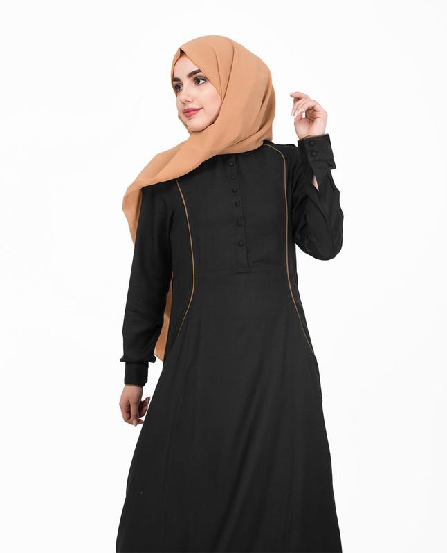 Black abaya jilbab dress