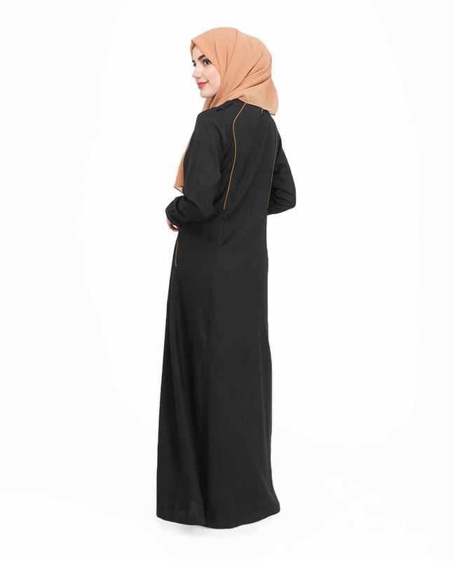 Buttoned front abaya jilbab