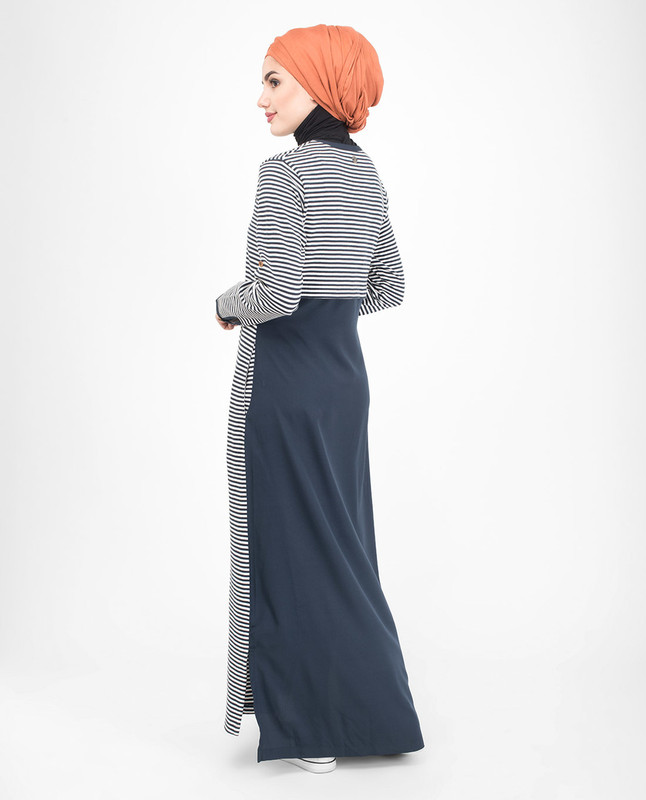 Mix Fabric Striper Jilbab