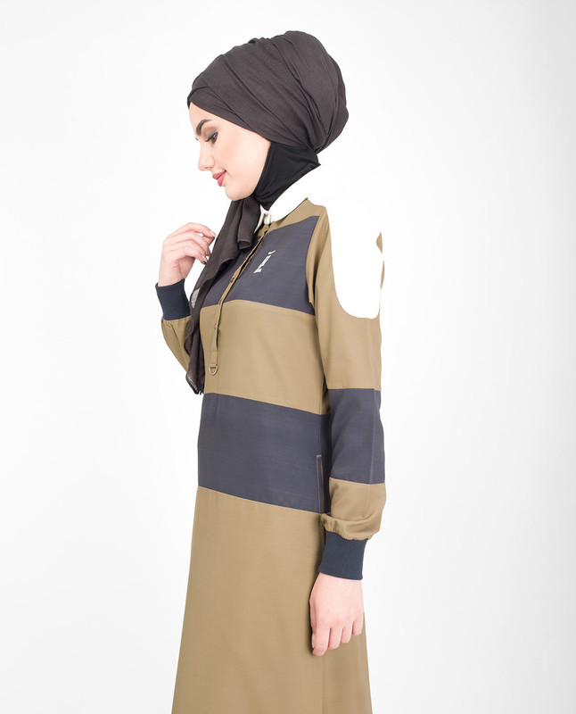 brown polo jilbab abaya