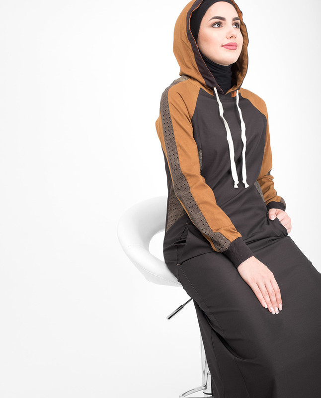 Brown Hooded Jilbab