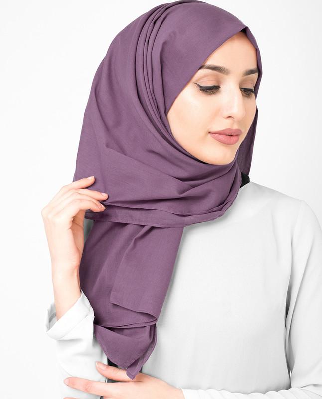 Dark purple hijab scarf