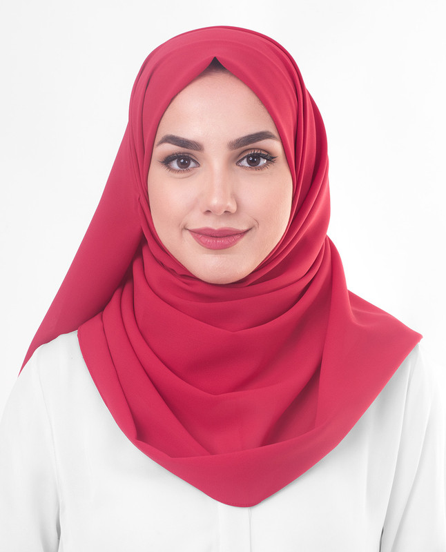 Red hijab scarf