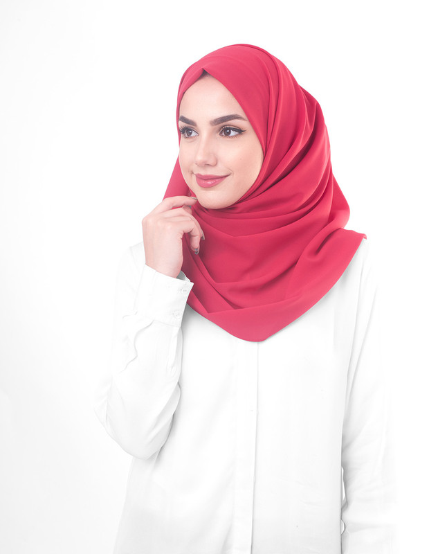 Red hijab style scarf