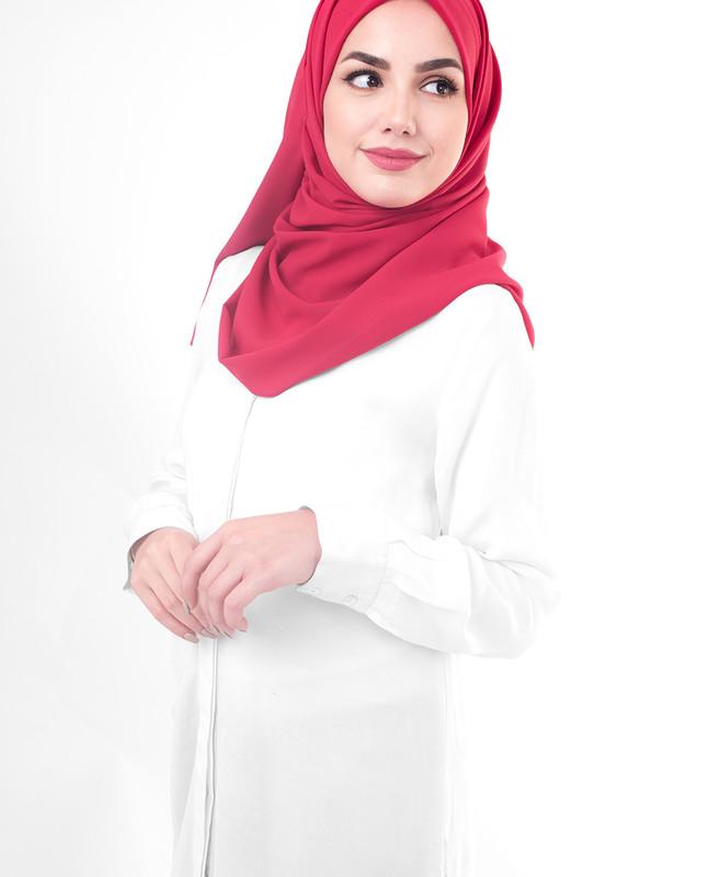 Simple red hijab scarf