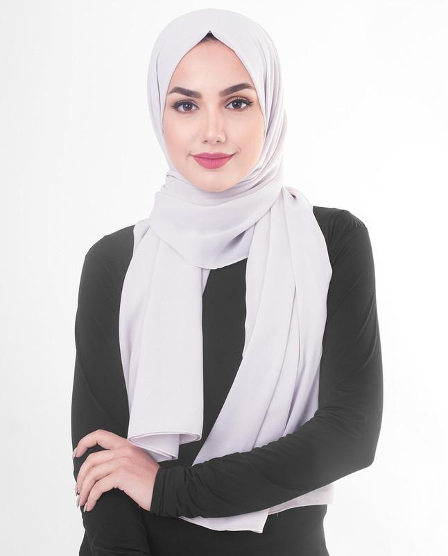 hijab purple scarf
