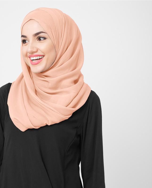 Pink soft hijab scarf