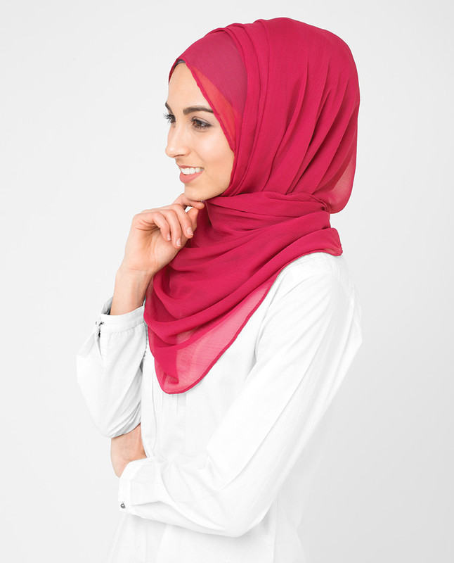 Hijab pink style scarf