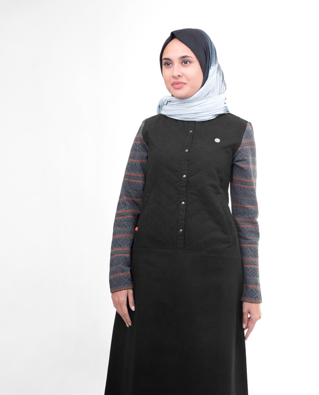 Black Quilted Jilbab
