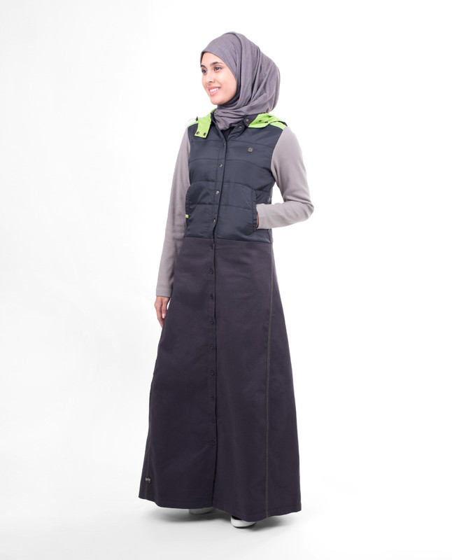 Full front open winter abaya jilbab