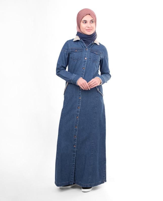 Full front open abaya jilbab