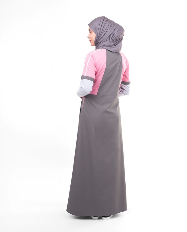 Cotton grey abaya jilbab