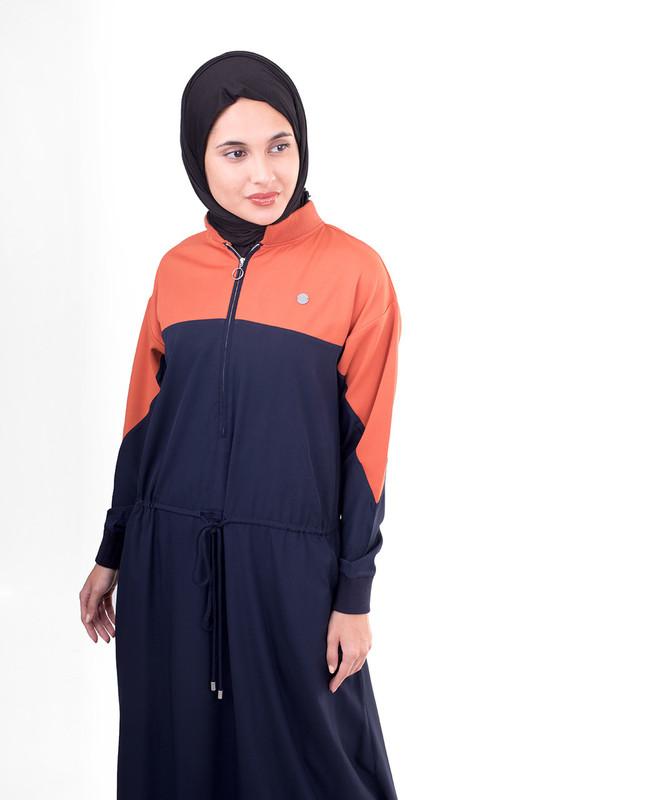 Navy blue abaya jilbab