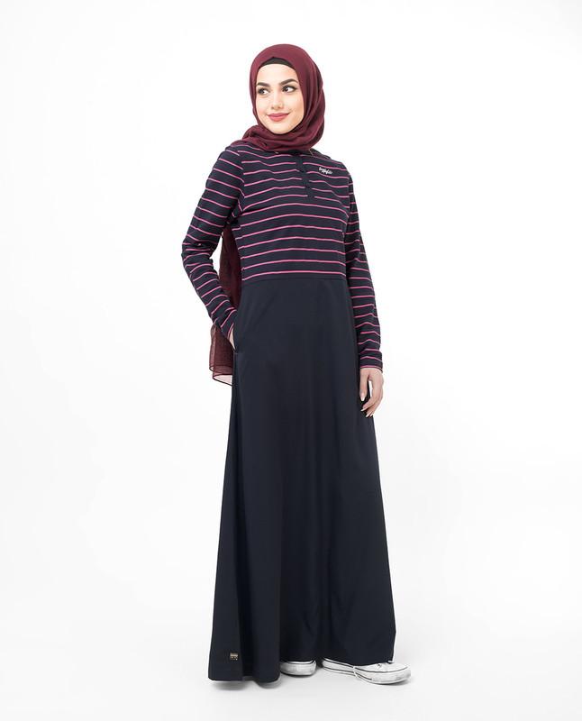 Jersey And Crepe Striper Jilbab