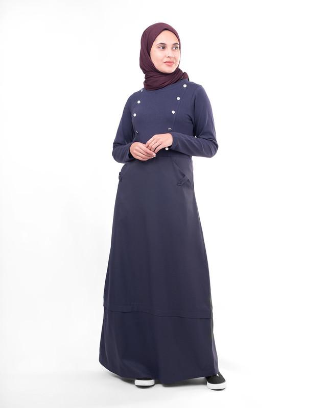 Chest button abaya jilbab