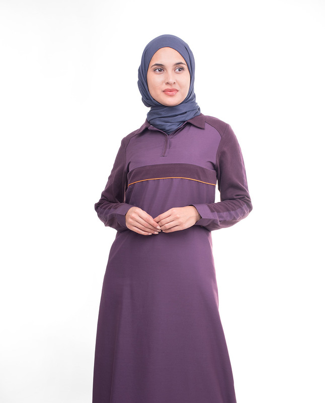 Dark purple abaya jilbab