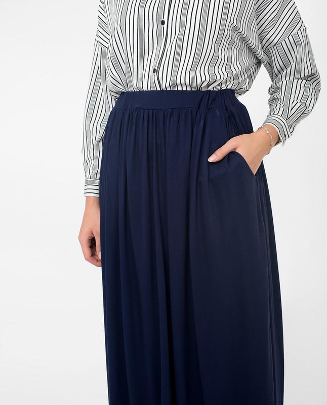 Long blue skirts for women
