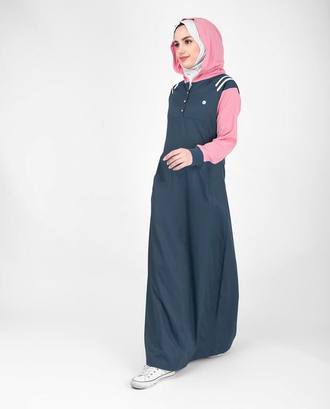 Hooded abaya jilbab
