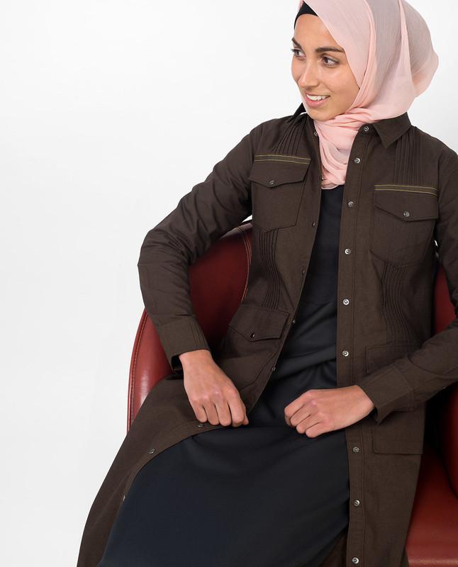 Brown abaya jilbab