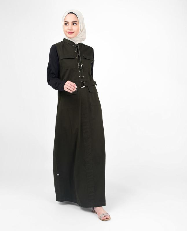 Cotton Green abaya jilbab