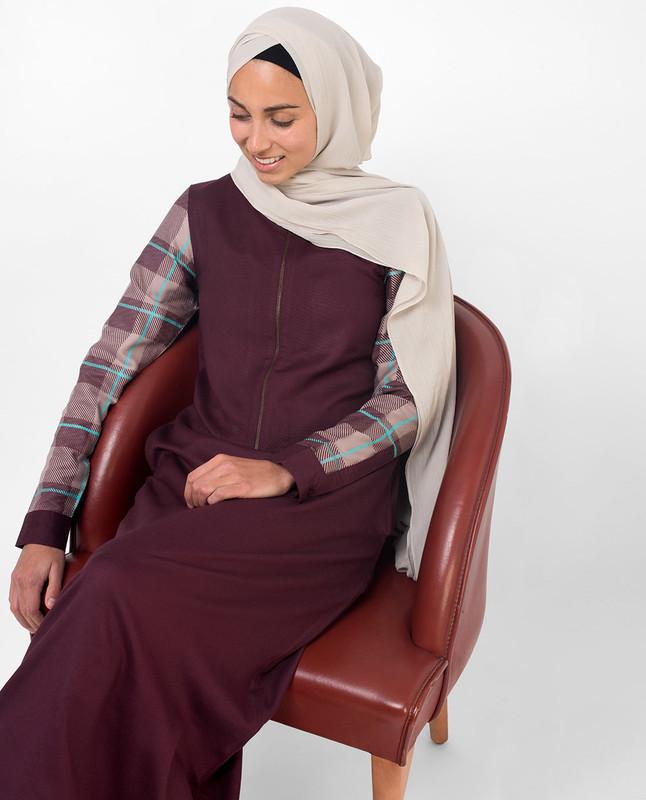 maroon abaya jilbab