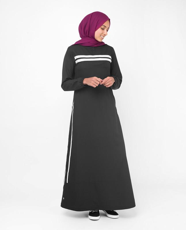 Black casual abaya jilbab