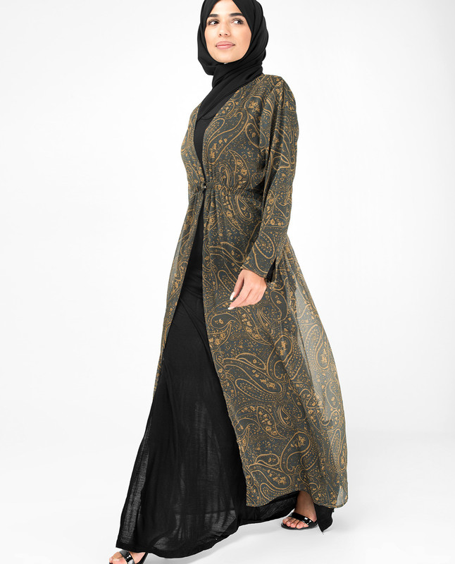 Paisley Print Georgette Outerwear
