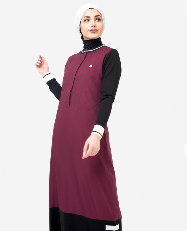 Buy black and red abaya jilbab
