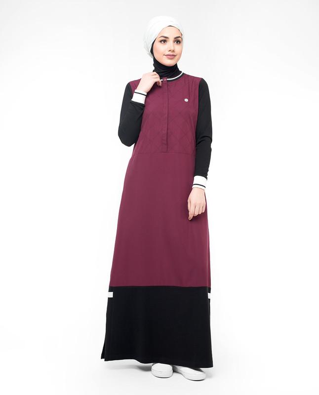 Dark red abaya jilbab