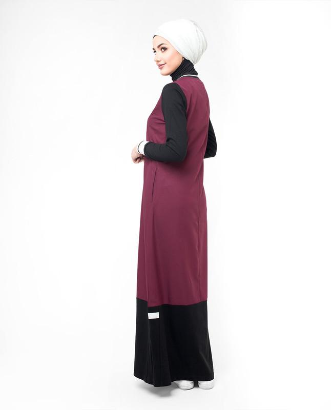 Cotton jersey abaya jilbab
