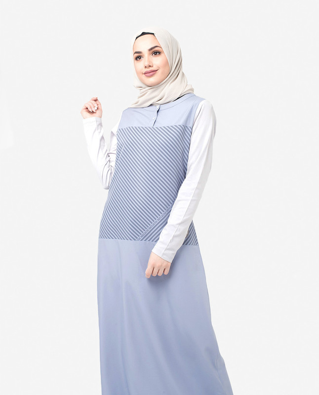 Light blue abaya jilbab
