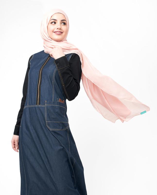 Buy blue denim abaya jilbab