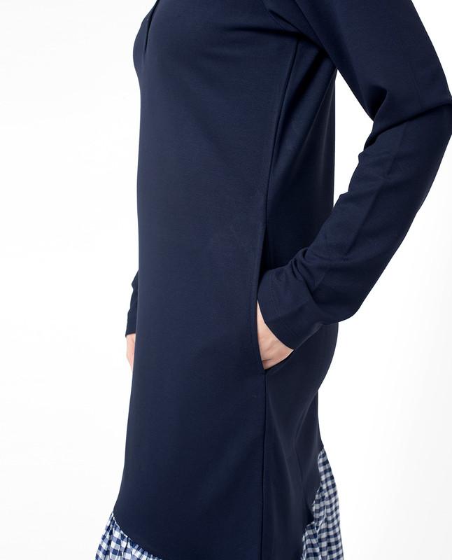 Side pockets blue abaya jilbab