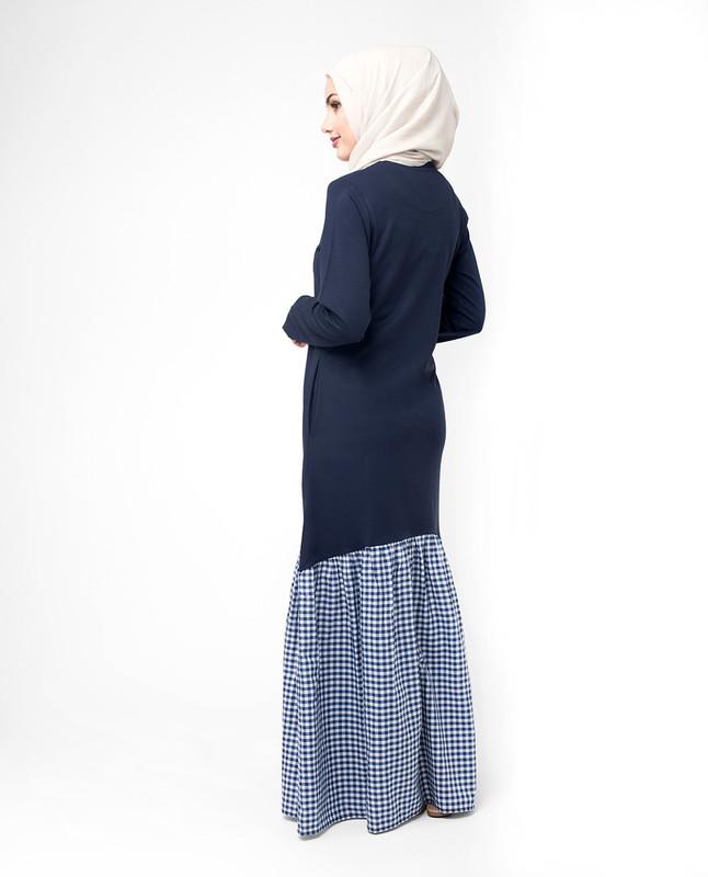 Stylist blue abaya jilbab