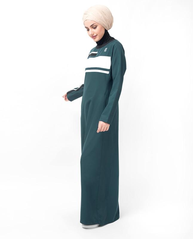 Deep Teal Sporty Abaya