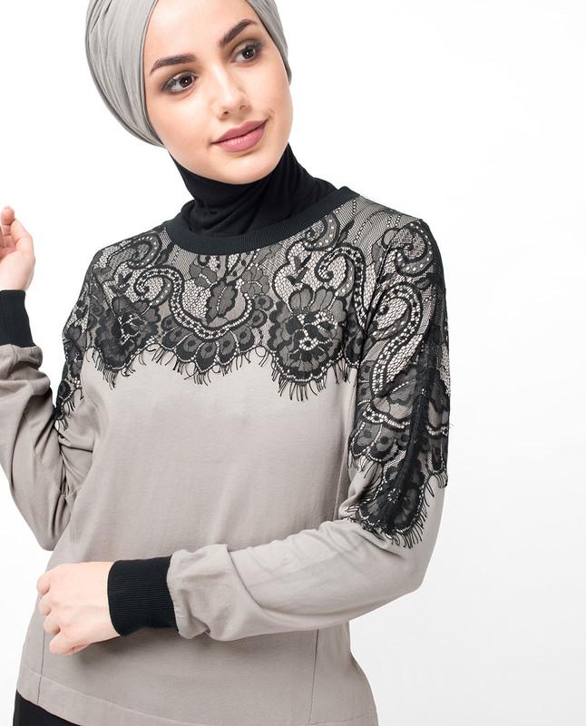 Black Laced Casual Abaya