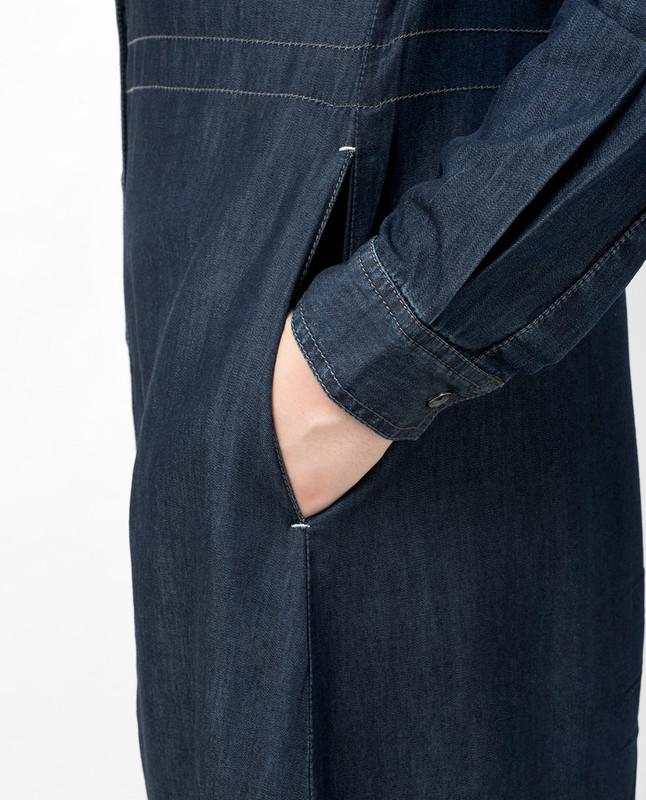 Mono Side Belted Denim Abaya