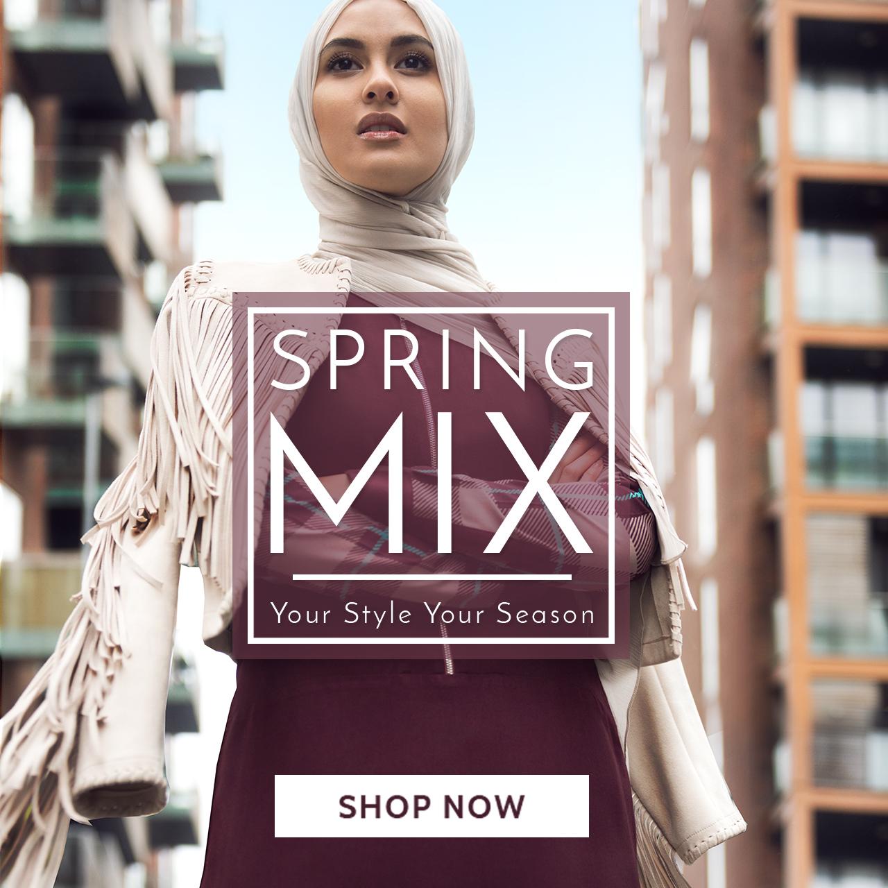 Spring Abaya Jilbab