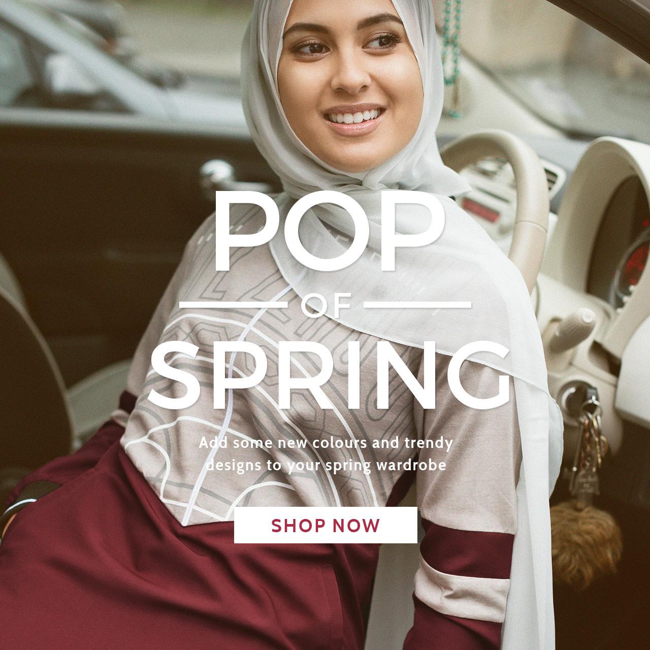 Pop of spring abaya jilbab