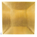 Gold Square Charger Plate, Case of 12