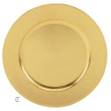 "13"" Gold Plain Charger Plate, Sample"