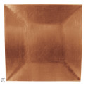 Copper Square Charger Plate, Sample