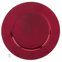 Heat Imprint Red Round Charger, Case of 12