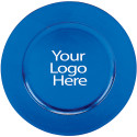 Heat Imprint Blue Round Charger, Case of 12