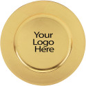 Heat Imprint Gold Round Charger Plate, Case of 12