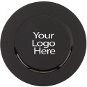 Vinyl Adhesive Black Round Charger, Case of 12