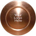 Laser Engraved Copper Round Charger, Case of 12