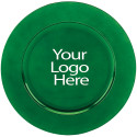 Laser Engraved Green Round Charger, Case of 12