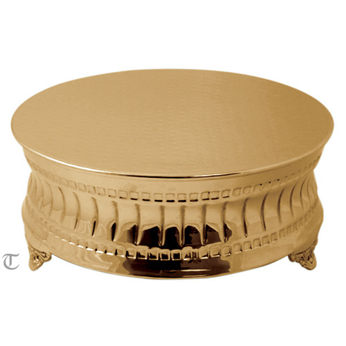 """18"""" Goldplate Round Cake Stand, Contemporary"""