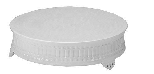 "16"" White Round Cake Stand,  Contemporary"